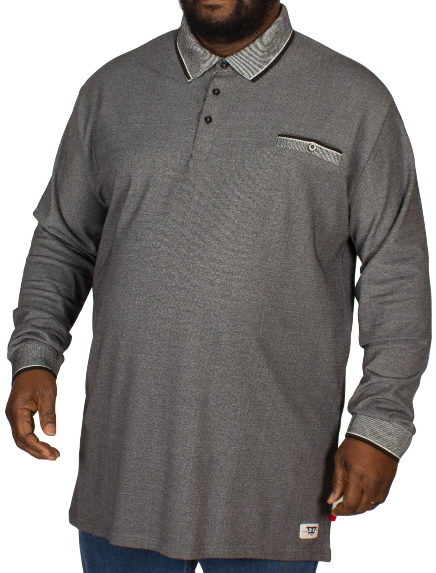 D555 Chigbo Melange Polo Shirt Charcoal