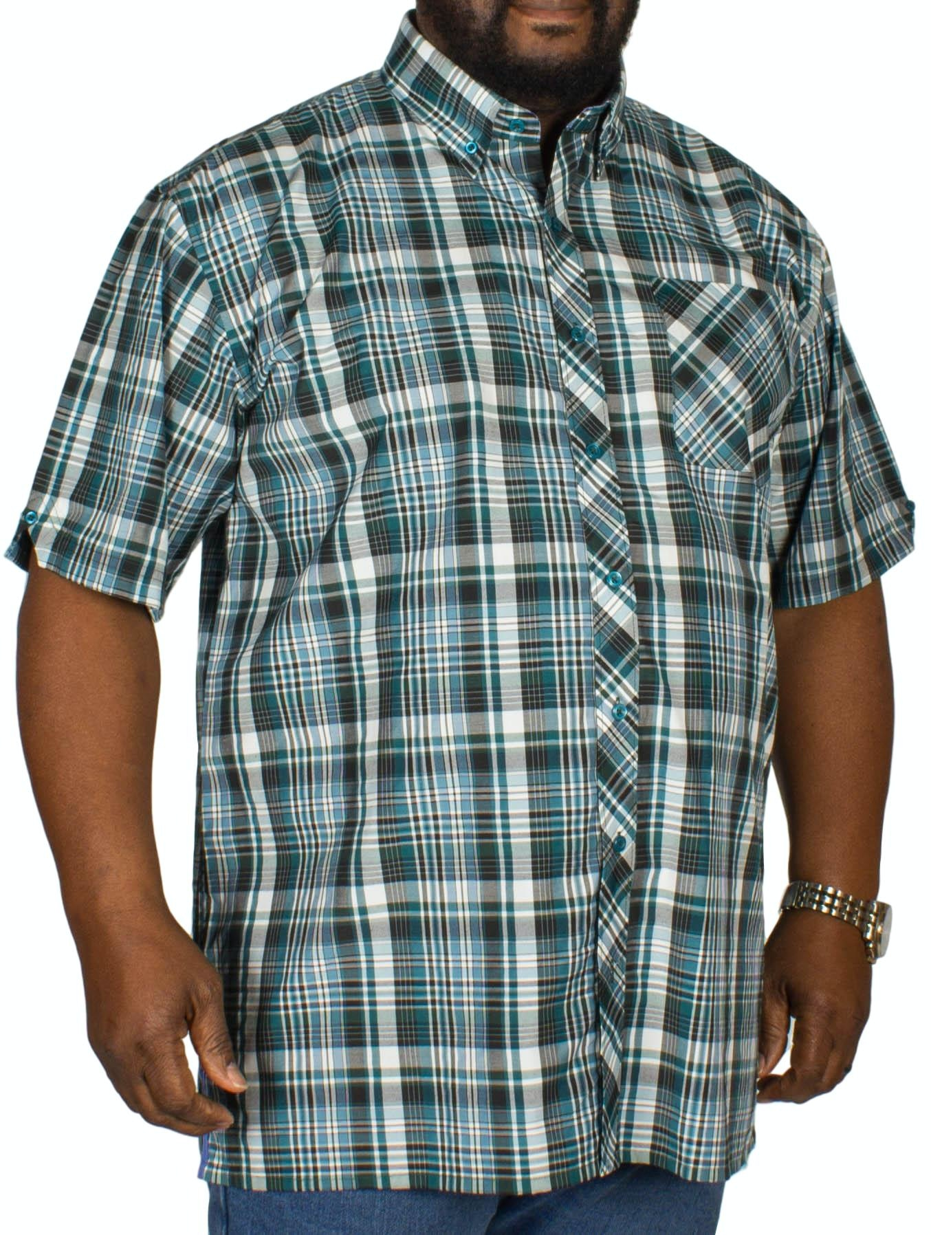 Espionage Check Short Sleeve Shirt Black/Green