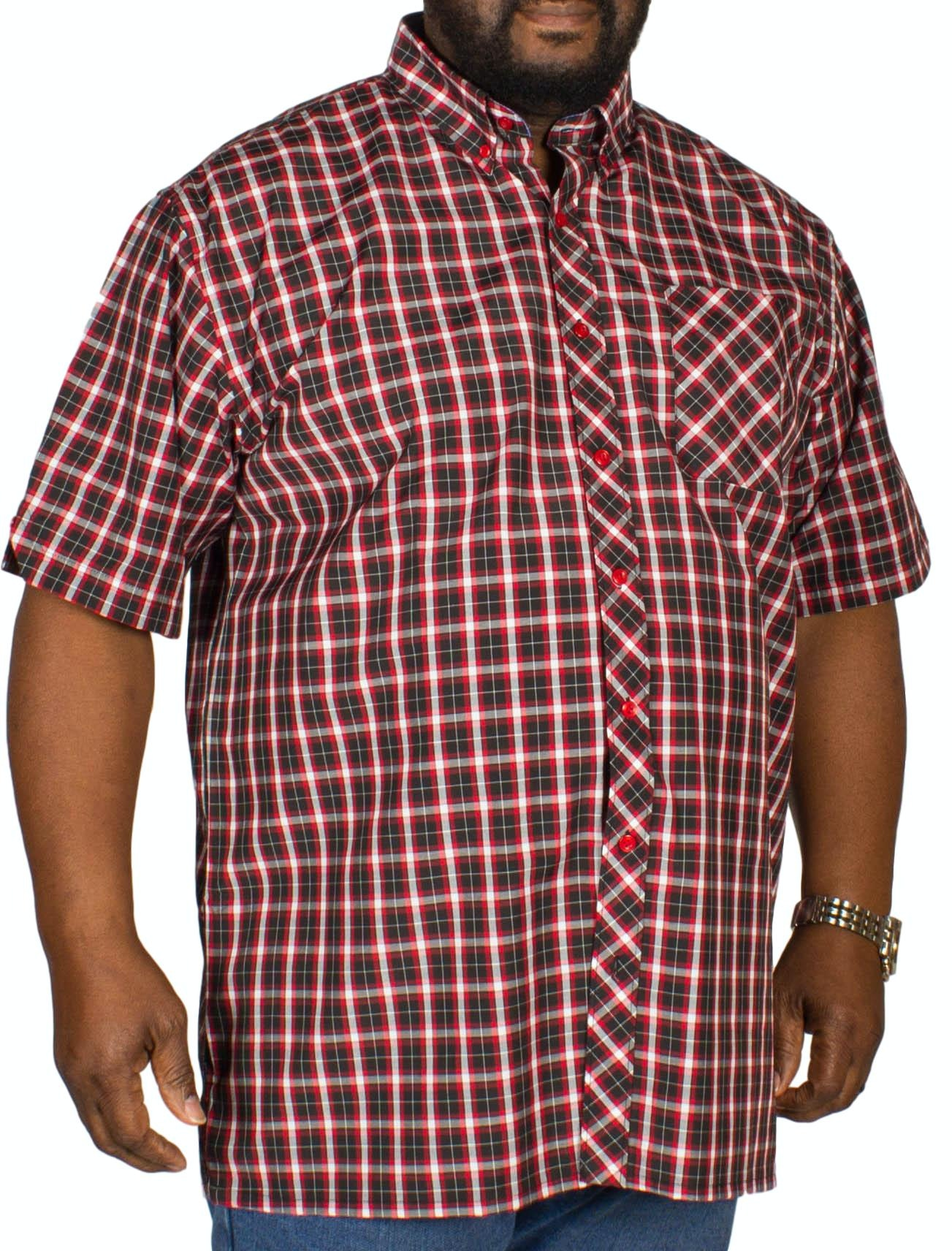 Espionage Check Short Sleeve Shirt Black/Red