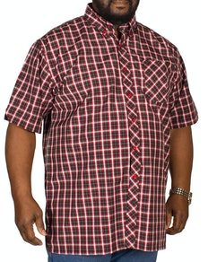 Espionage Check Short Sleeve Shirt Black/Red