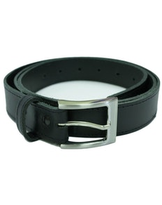 Black Thin Trouser Belt