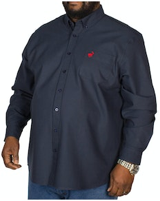 Bigdude Long Sleeve Oxford Shirt With Pocket Navy