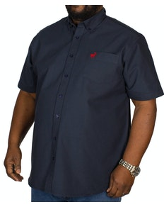 Bigdude Short Sleeve Oxford Shirt Navy