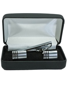 Sophos Brushed Cufflinks And Tie Bar Set