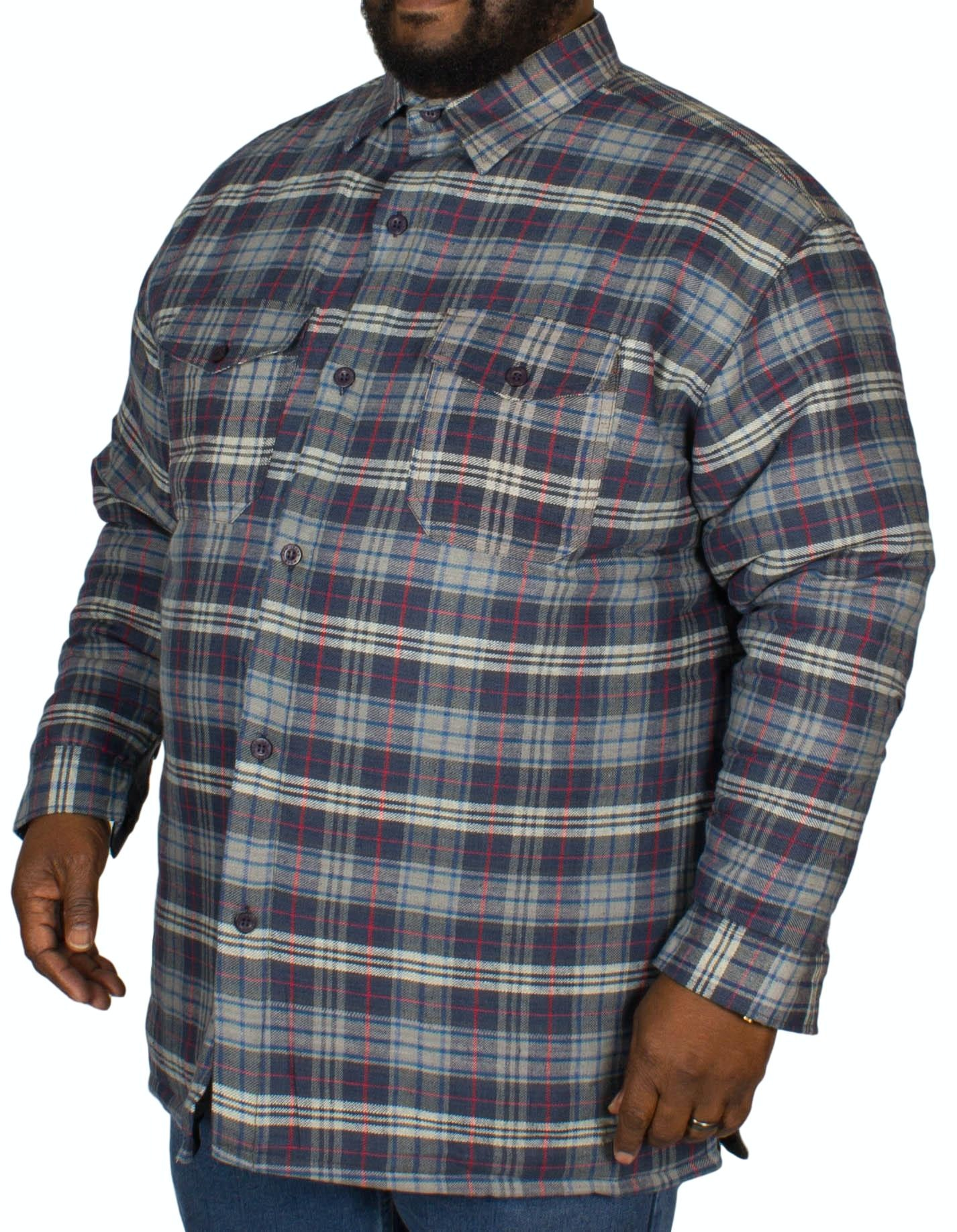 KAM Padded Shirt Navy