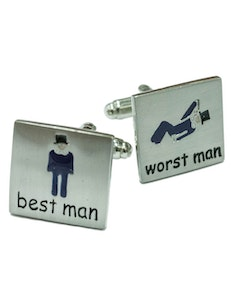Sophos Best Man/Worst Man Wedding Cufflinks