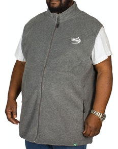 D555 Benjamin Fleece Gilet Charcoal