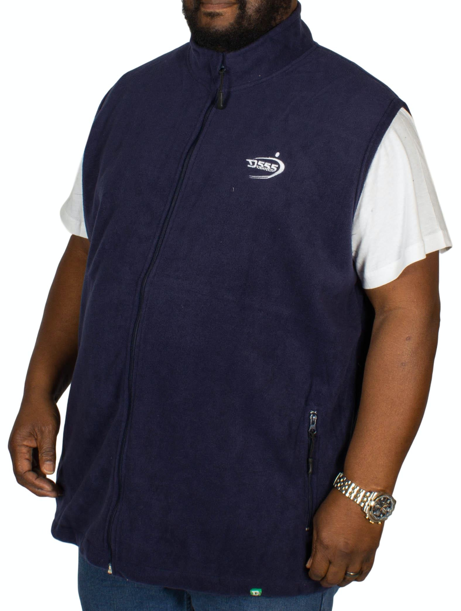 D555 Benjamin Fleece Gilet Navy