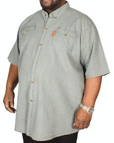Fitzgerald Terry Linen Shirt Dark Grey