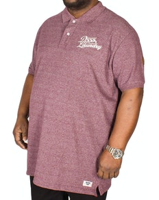 D555 Graham Embroidered Polo Shirt Brick Tall