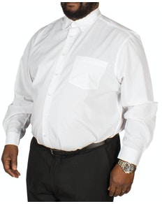 Bigdude Long Sleeve Poplin Shirt White