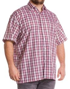 Fitzgerald Morgan Short Sleeve Red Check Shirt