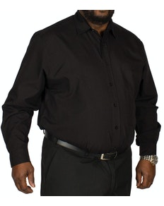Bigdude Long Sleeve Poplin Shirt Black