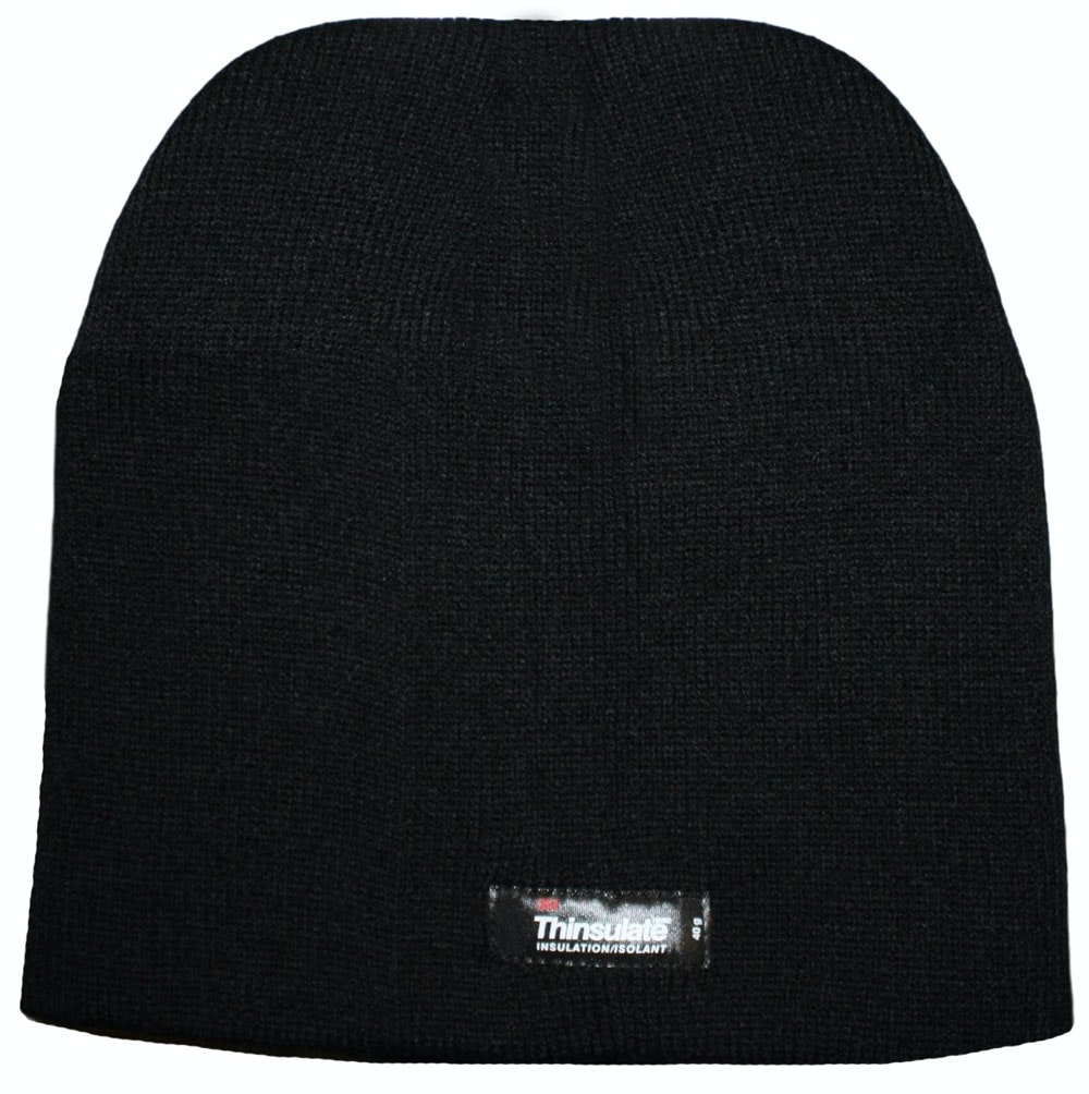 Thinsulate Thermal Beanie Hat Black