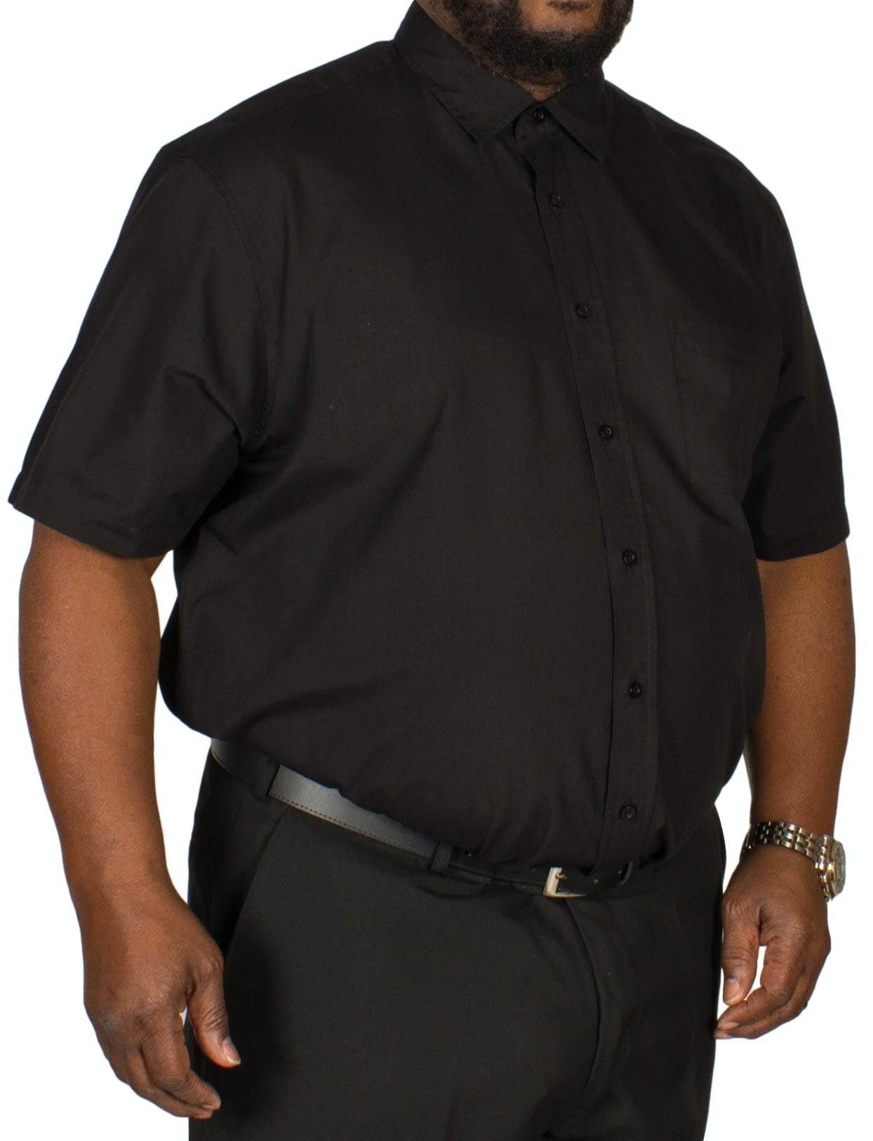 Bigdude Short Sleeve Poplin Shirt Black