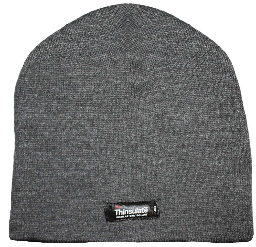 Thinsulate Thermal Beanie Hat Charcoal