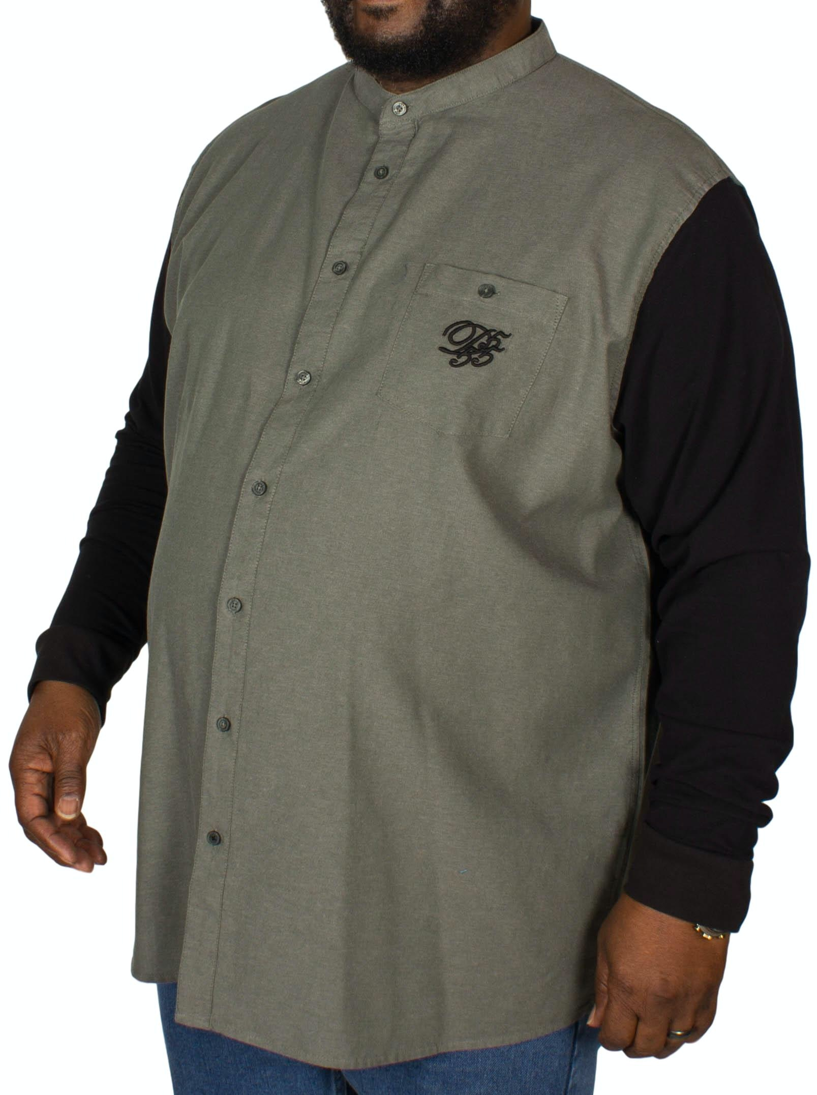 D555 Atkins Grandad Shirt Khaki