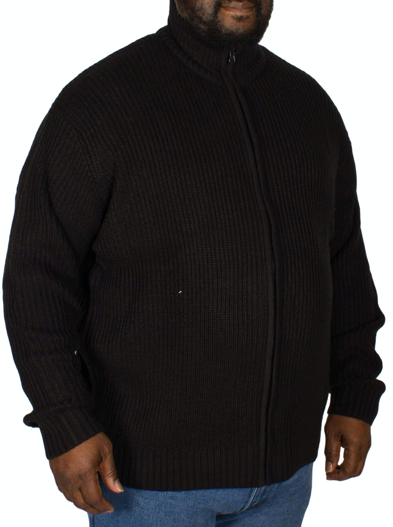 Metaphor Ribbed Zipped Knitted Sweater Black