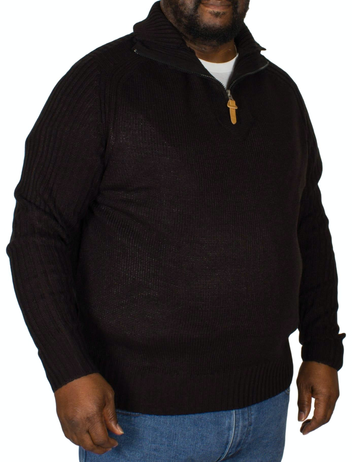D555 Vito Half Zip Sweater Black