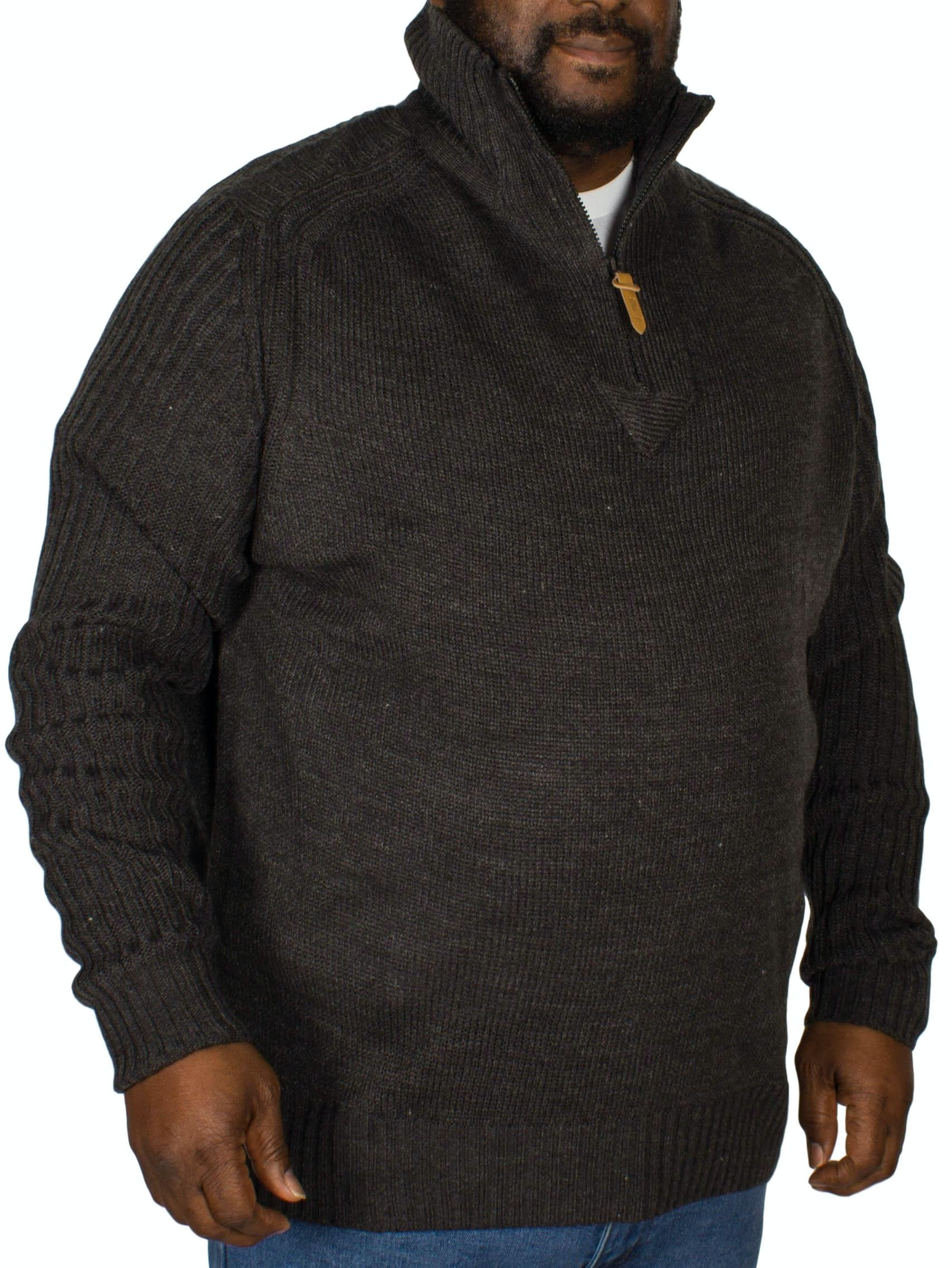 D555 Vito Half Zip Sweater Charcoal