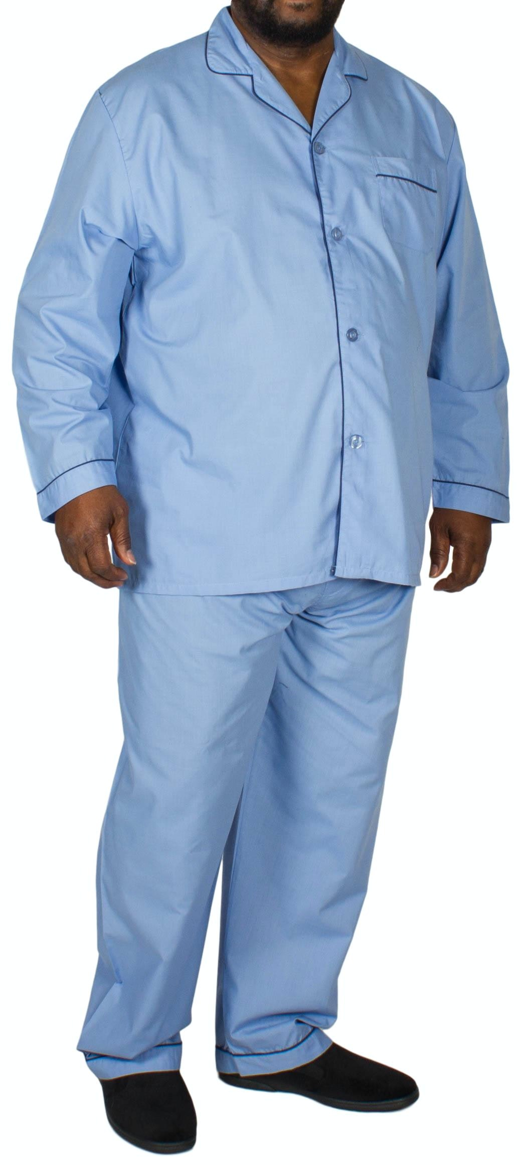 Pyjamas Long Sleeve & Trousers Mid Blue