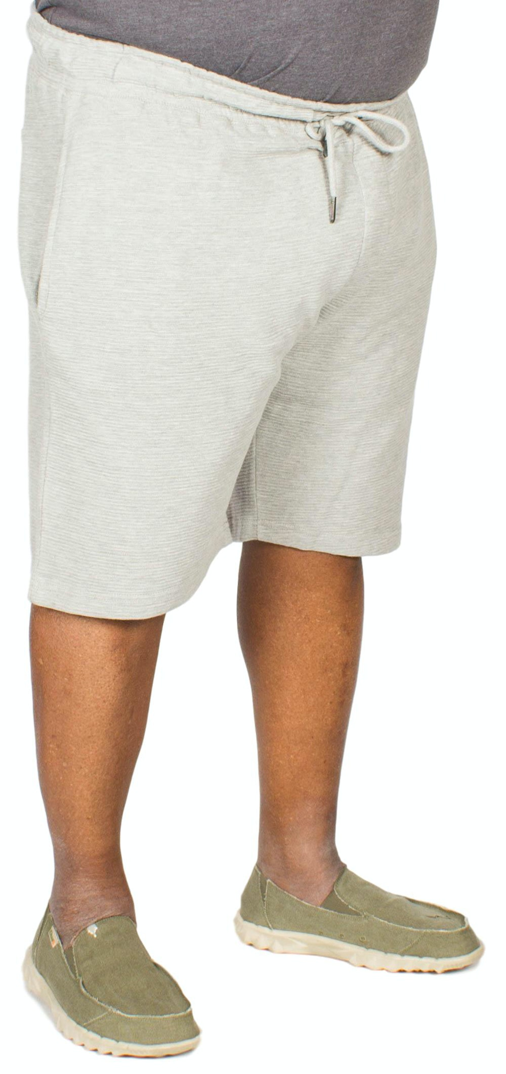 D555 Ribbed Shorts Grey