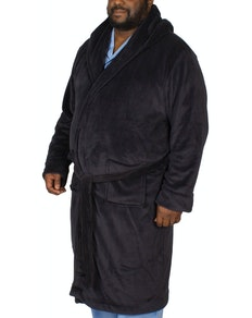 Espionage Hooded Fleece Gown Navy