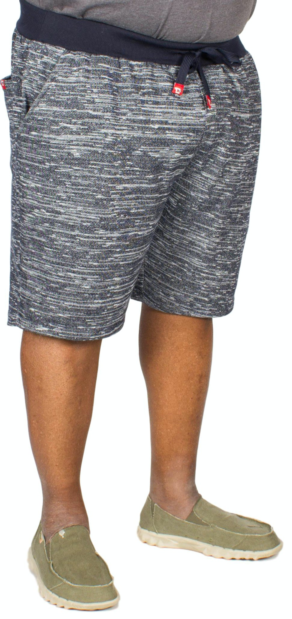 D555 Tommy Space Dyed Fleece Shorts Navy