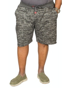D555 Tommy Space Dyed Fleece Shorts Charcoal