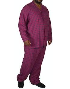 Rael Brook Brushed Check Pyjamas Red/Navy