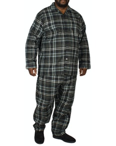 King's Club Navy/Grey Plaid Pyjamas Set