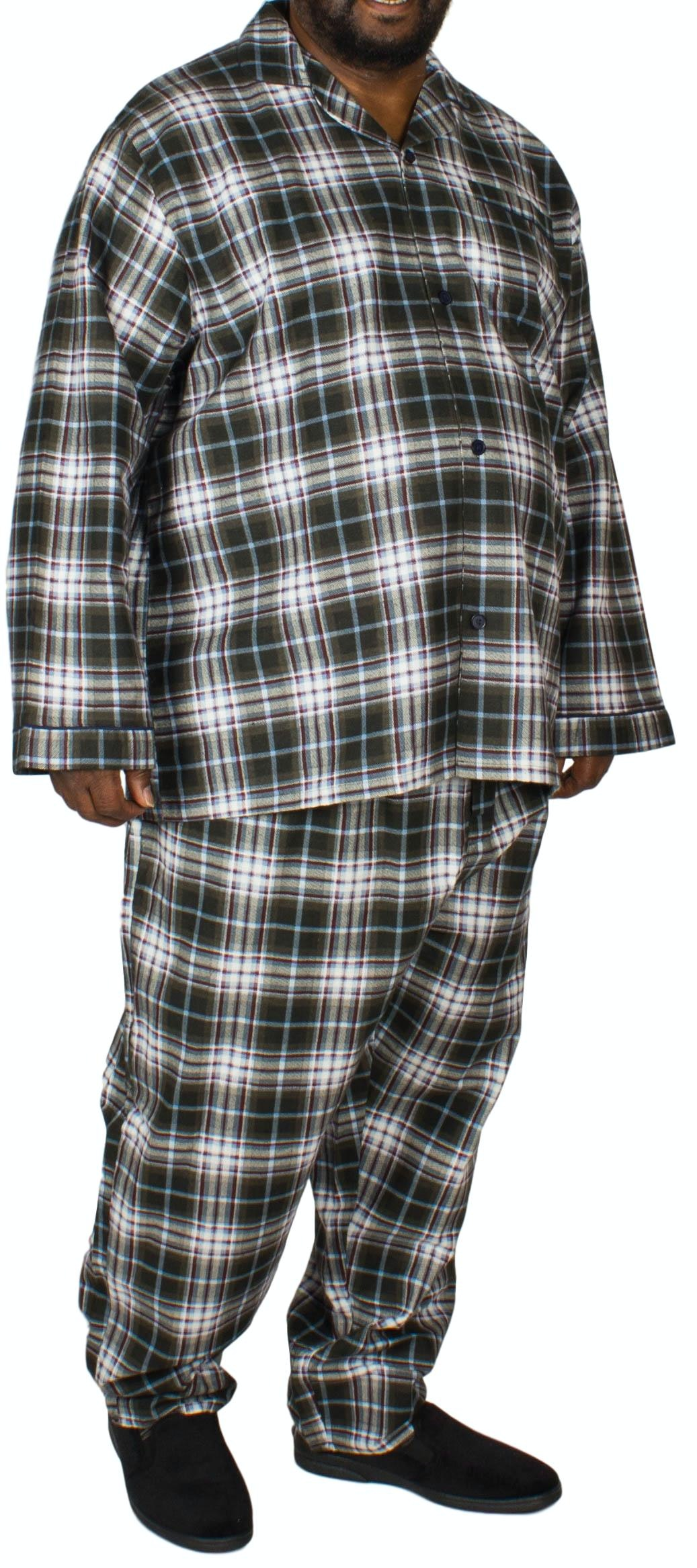 King's Club Red/Blue Plaid Pyjamas Set
