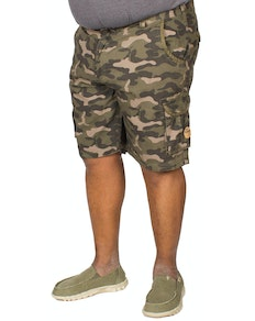 D555 Victor Camouflage Print Cargo Shorts Jungle
