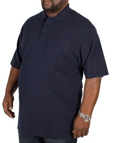 Bigdude Polo Shirt With Pocket Navy Tall