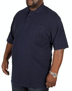 Bigdude Polo Shirt With Pocket Navy Tall