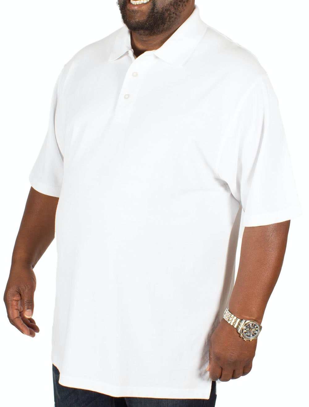 Bigdude Plain Polo Shirt White