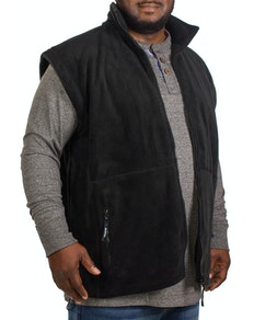 Metaphor Plain Full Zip Gilet Black