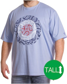 Lambretta Tall Paisley T-Shirt Blue