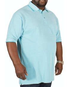 Bigdude Marl Effect Pocket Polo Shirt Sky Blue
