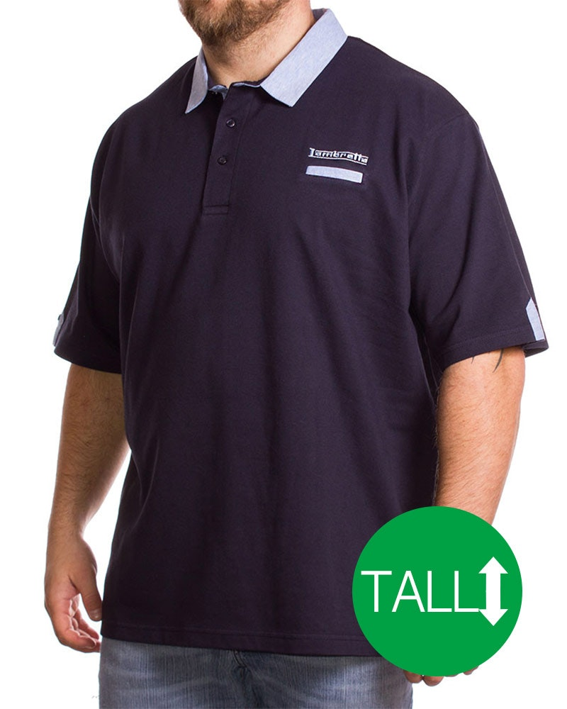 Lambretta Tall Hero Polo Shirt Navy