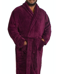 Espionage Plain Fleece Gown Burgundy
