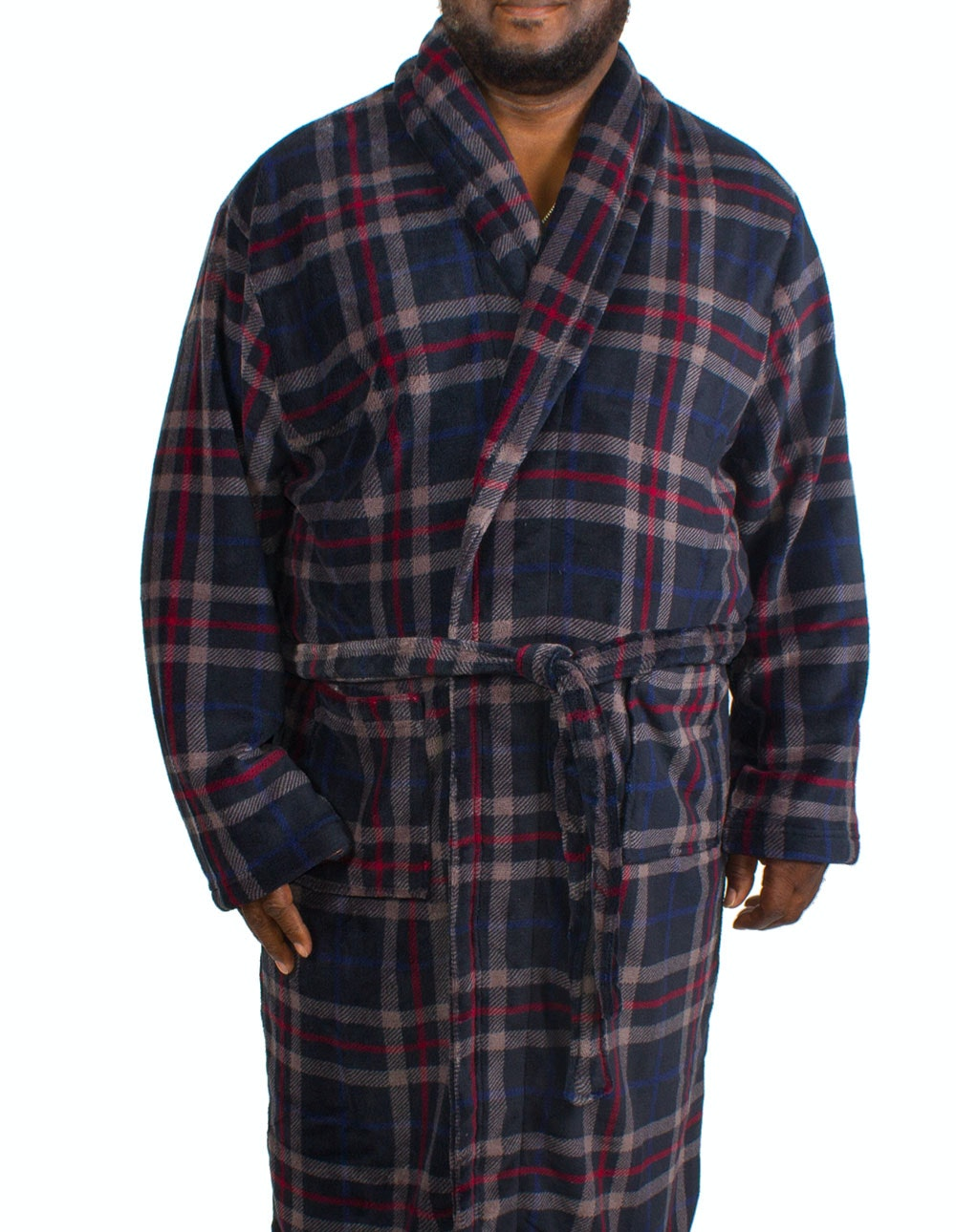 Espionage Check Fleece Dressing Gown