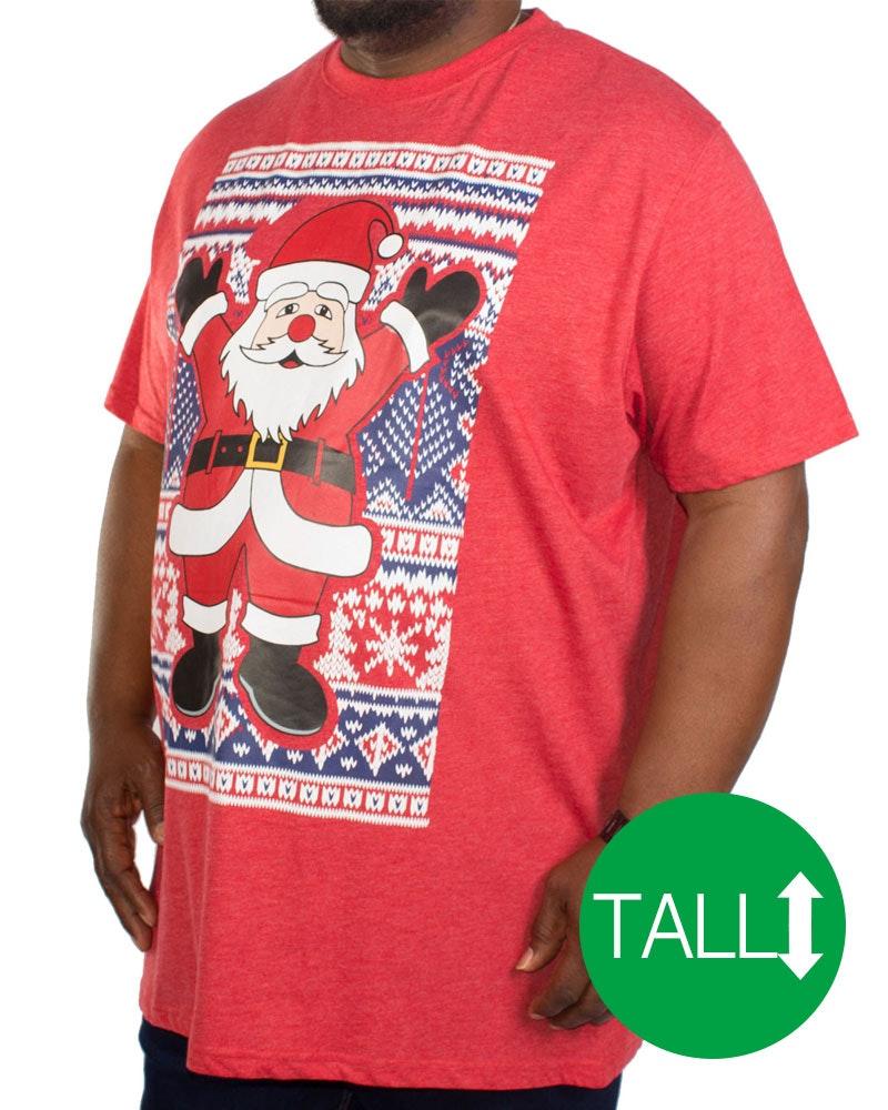 D555 Snowflake Santa Christmas T-Shirt Tall