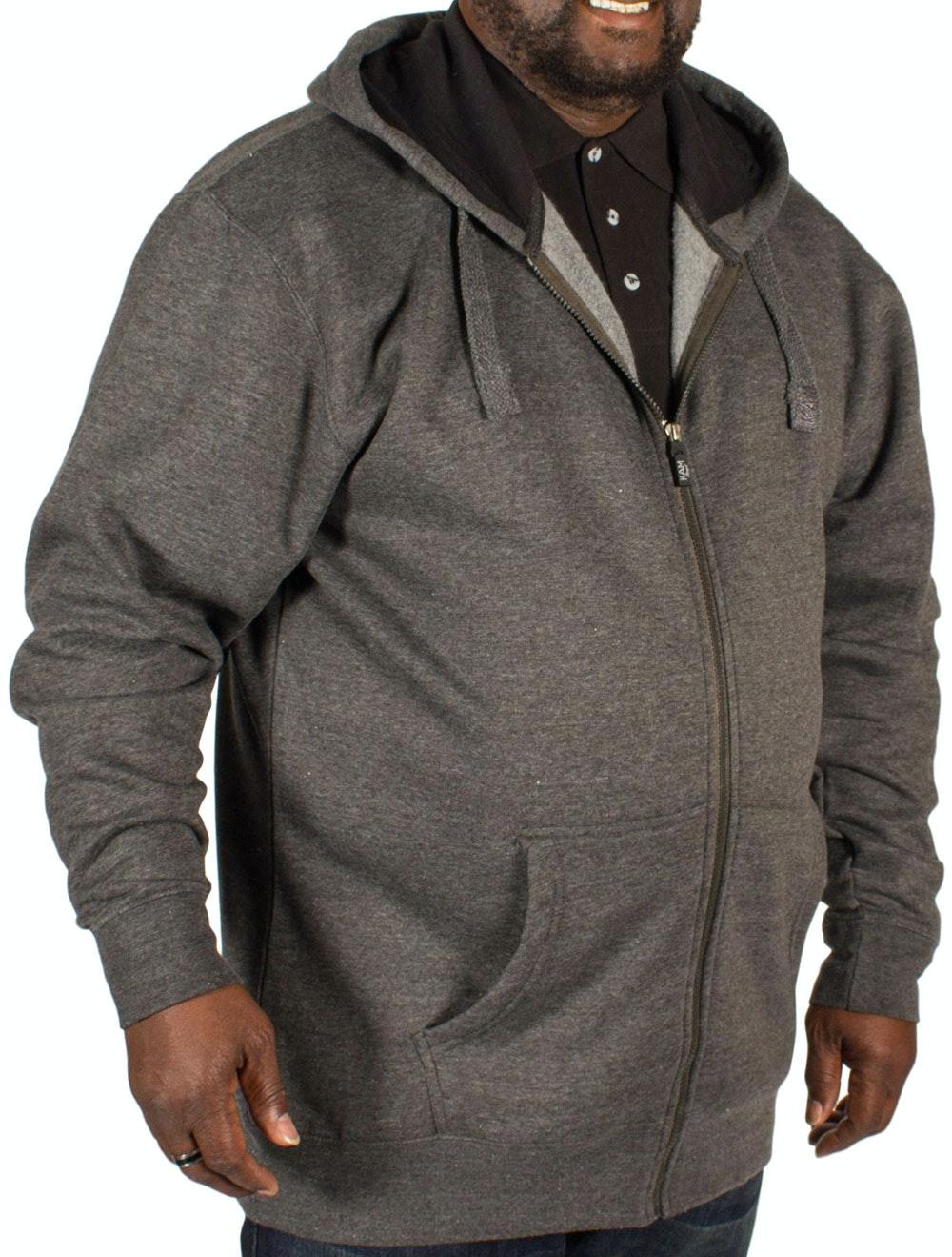 KAM Fleece Full Zip Hoody Charcoal