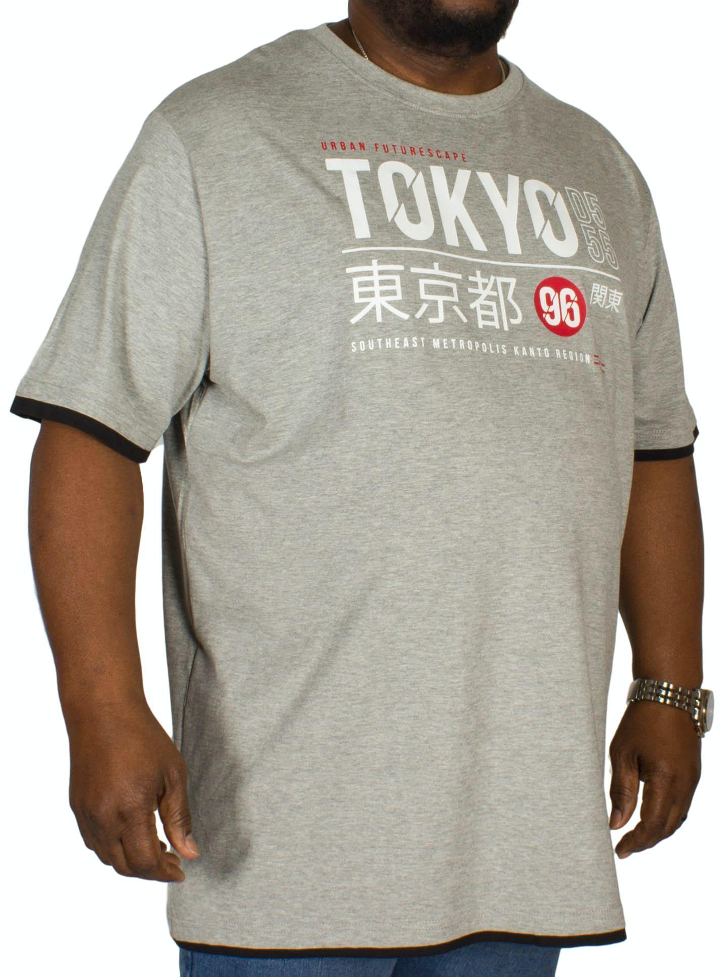 D555 Darnell Printed T-Shirt Grey