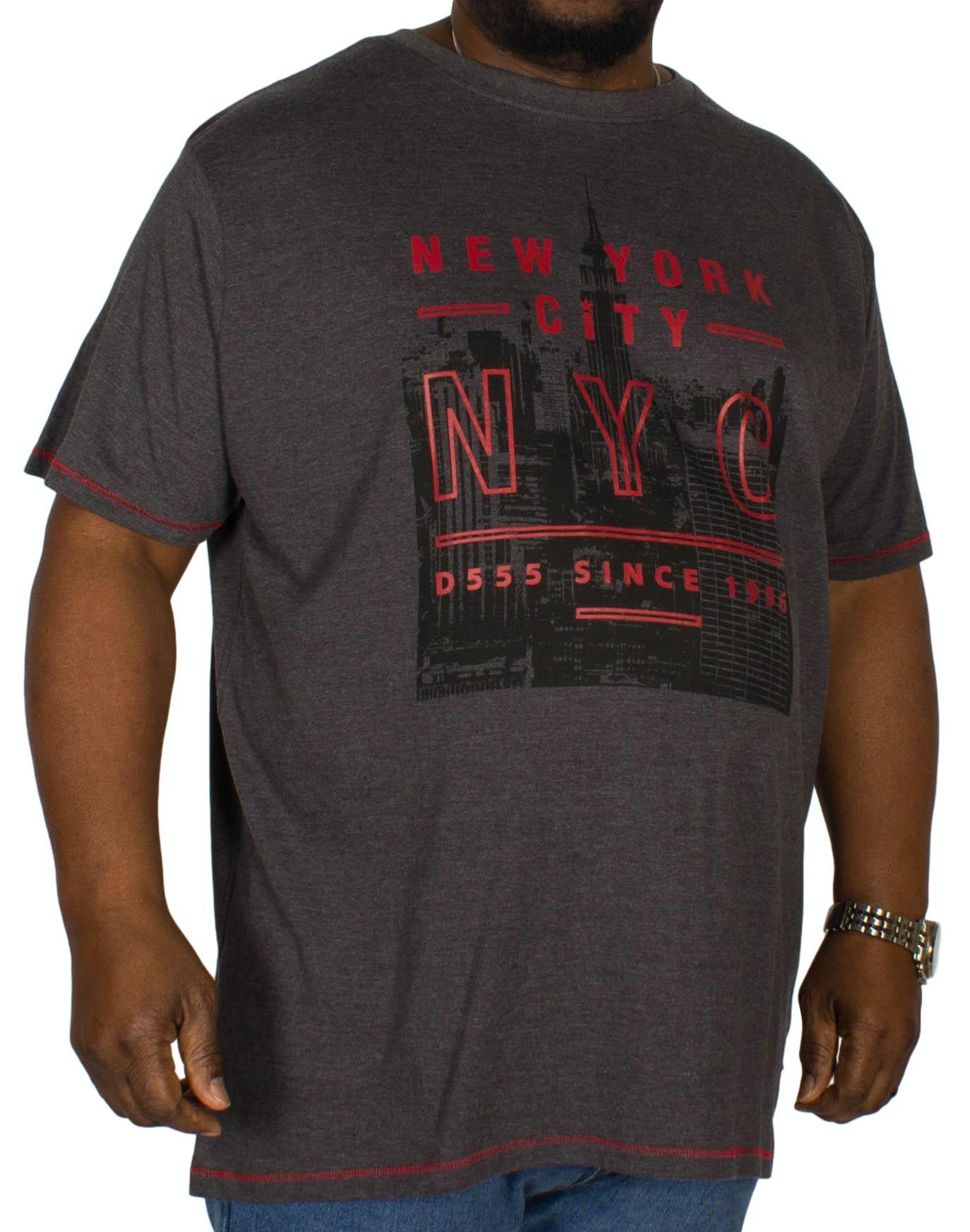 D555 Alex Printed T-Shirt Charcoal
