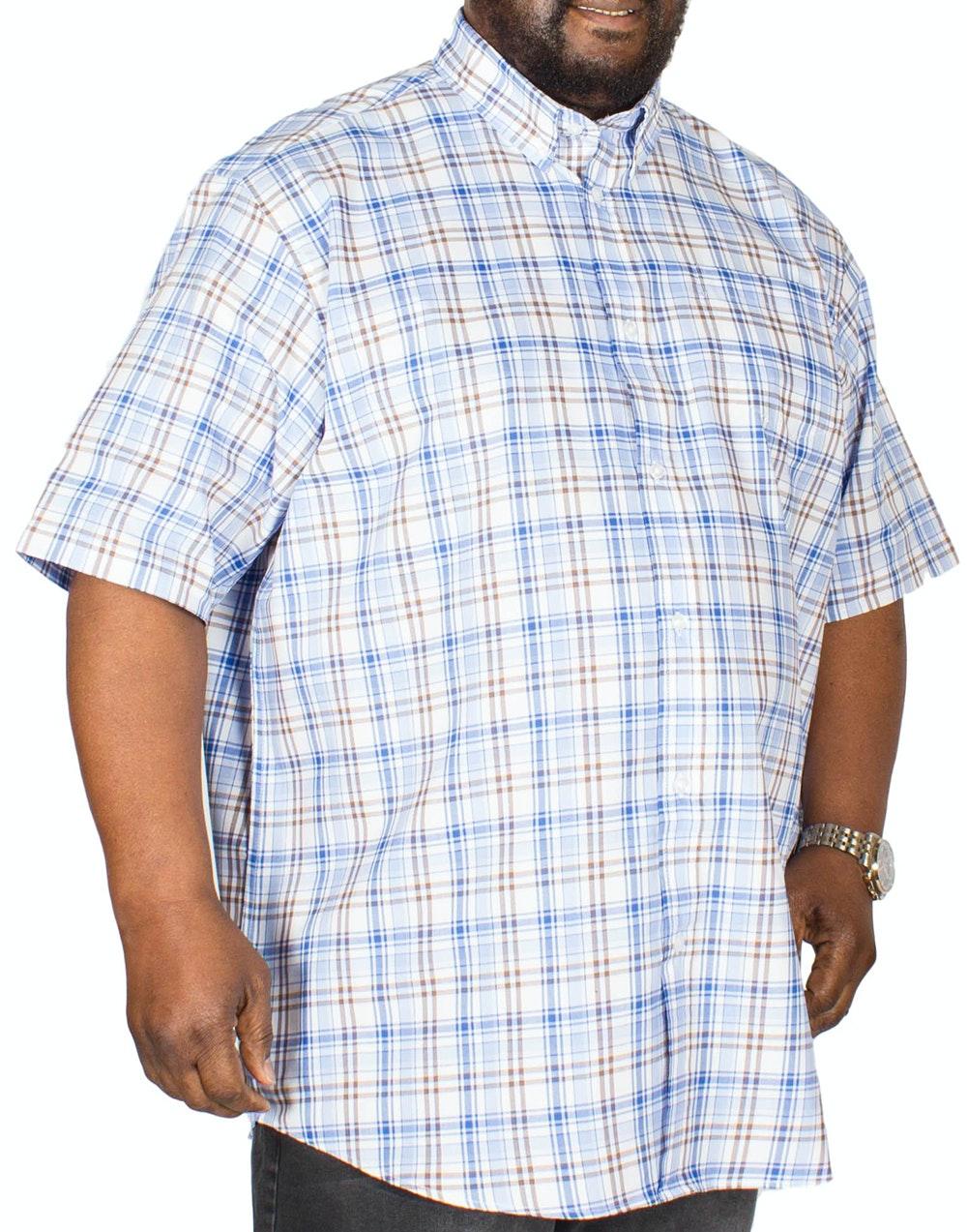 Carabou Check Shirt Blue/Brown