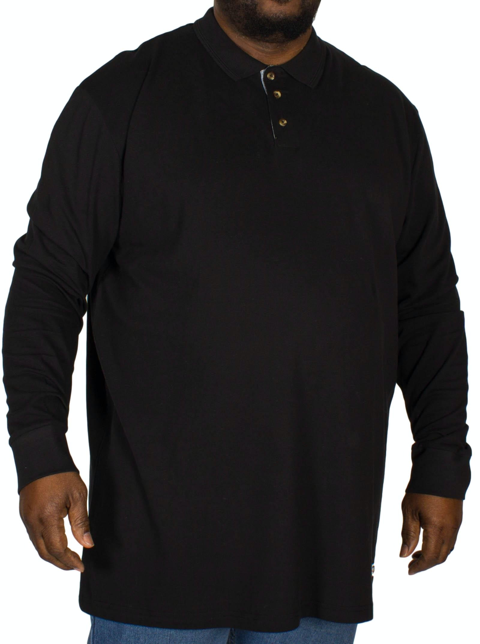 D555 Darvin Long Sleeve Polo Black