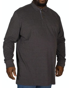 D555 Darvin Long Sleeve Polo Charcoal