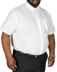 D555 Delmar Short Sleeve Classic Shirt White